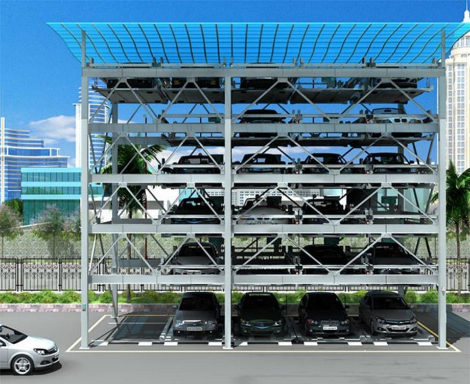 黄平PSH4-6四至六层升降横移机械式立体停车设备